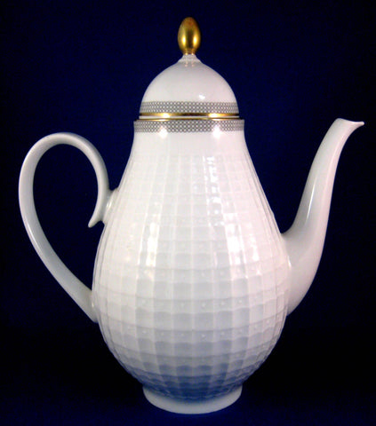 Coffee Pot Mid Century Eschenbach Bavaria Germany Gold trim Retro 1950s Tall Tea Pot