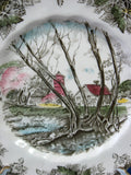 Johnson Brothers Friendly Village Salad Plate Willow By The Brook English Made 1950-1960s