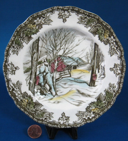 Johnson Brothers Friendly Village Bread Plate Sugar Maples English Made 1950-1960s