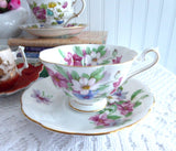 Clematis Cup And Saucer Royal Albert Vintage English Bone China 1950s