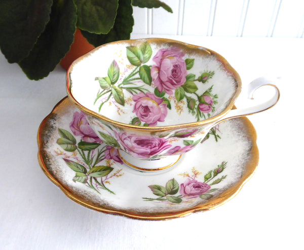 Pink Roses Cup And Saucer Royal Albert Vintage English