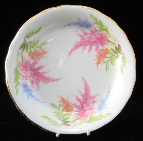 Royal Chelsea Butter Pat English Butter Chip Astilbe 1950s Bone China