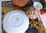 Tea Cup And Saucer Fall Paisley Chintz 1950s Vintage Royal Standard Rust Autumn