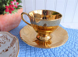 Luxe Royal Winton Golden Age Cup And Saucer Demitasse 1960s Gold Luster