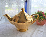 Luxe Royal Winton Golden Age Teapot 1960s Gold Luster Large Tea Pot