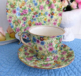 Kew Chintz Teacup Trio Royal Winton Grimwades England 1950s
