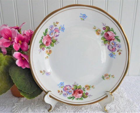 Salisbury Floral Plate 7 Inch Cake Mixed Floral Bouquets 1950s Salad Dessert