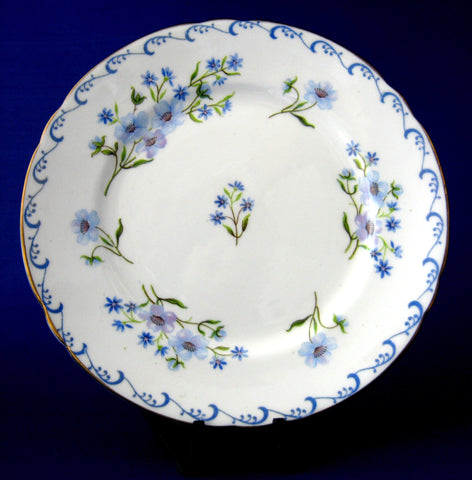 Plate Shelley China England Blue Rock 6 Inch Cake Plate Side Plate 1950s Tea Plate