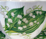Shelley China Dainty Lily Of The Valley Cup And Saucer 1960s Afternoon Tea