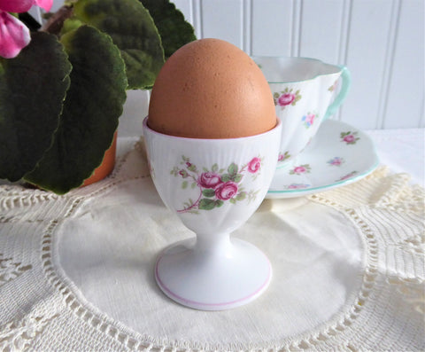 Shelley Eggcup Rose Spray Dainty Egg Cup 1950s English Bone China Bridal Rose