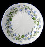 Shelley China Harebell Oleander Bread Plate 6 Inch Cake Plate Side Plate 1950s Tea Plate