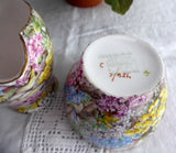 Shelley China Rock Garden Chintz Cream and Sugar Milk Afternoon Tea Individual