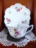 Shelley Cup and Saucer Stratford Shape Universal Rose Floral And Bluebell Tea Party
