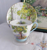 Shelley Cup and Saucer Woodland Richmond Shape Landscape 1950s