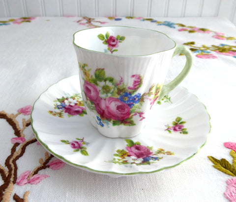 Shelley Tall Demitasse Cup And Saucer Marriage Tall Dainty And Ludlow Floral Bouquets