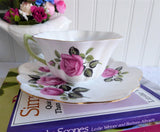 Shelley England Pink Rose Cappers Rose Cup And Saucer Stratford Shape 1959-1966
