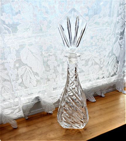 Irish Lead Crystal Decanter With Stopper Crystal Mid Century Modern Geometric