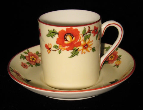 Mocha Cup And Saucer English Bone China Espresso Yellow 1950s