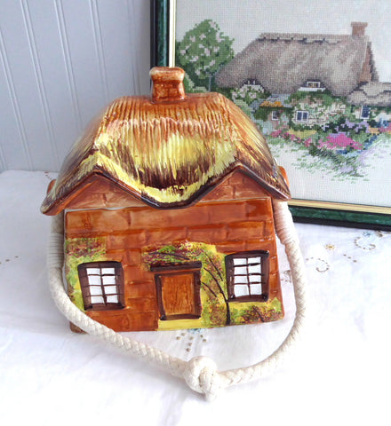 Cottage Ware Biscuit Barrel Price Kensington Cookie Jar 1950s Thatched Cottage