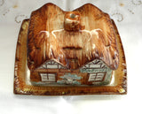 Cottage Ware Cheese Dome Price Kensington Hand Painted 1950s Butter Dish Thatched Cottage