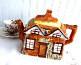 Ye Olde Cottage Cottage Ware Teapot Price Kensington Hand Painted 1950s Large