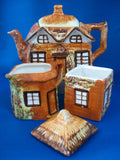 Teaset Cottage Ware Teapot With Cream And Sugar Price Kensington 1950s Cottageware