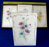 Note Cards Retro Boxed Set Of 18 Embossed Floral Cards With Envelopes Gold 1950s