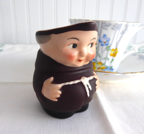 Little Monk Friar Tuck Hummel Cream Jug West Germany Black Shoes 1950s Creamer