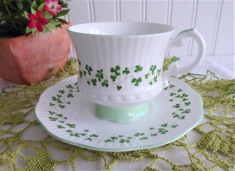 Elizabethan Shamrock Small Cup And Saucer English 1950s Bone China