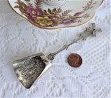 Sugar Spoon Dutch Mechanical Sugar Shell 1950s Silver Sugar Shovel Caddy Spoon