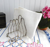 Toast Rack Retro Silver Plated English 6 Slice Toast Holder Letters Tea Party