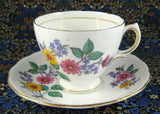 Royal Vale England Vintage Daisies Cup And Saucer Bone China 1950s