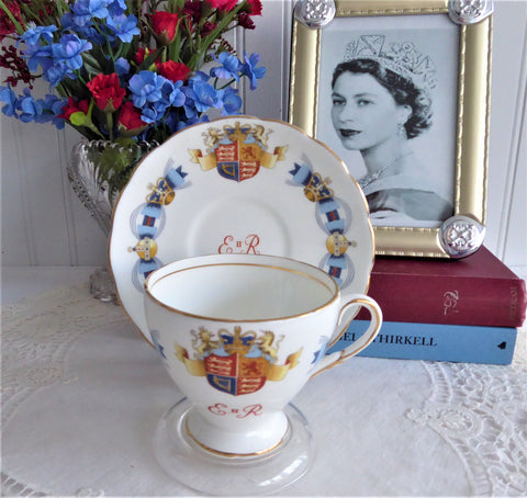 Queen Elizabeth II Coronation Cup And Saucer 1953 English Bone China