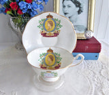 Queen Elizabeth II Coronation Cup And Saucer Rosina 1953 English Bone China