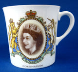 Shelley Mug Queen Elizabeth II Coronation Bone China 1953