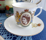 Queen Elizabeth II Shelley Coronation Cup And Saucer 1953 English Bone China