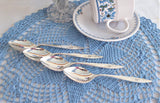 Morning Rose Silver Teaspoons Community 4 Spoons 1960s Mid Century Modern