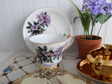 Lavender Azaleas Cup And Saucer Rhododendrons English Bone China 1960s