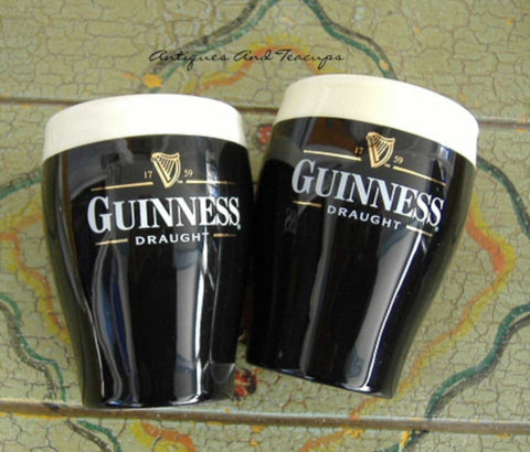 Eggcup Pair Glass Of Guinness Boxed Set Egg Cups Ceramic 1960s