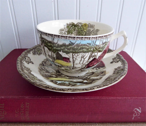 Friendly Village Cup And Saucer Johnson Brothers Ice House Made In England
