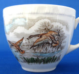 Mallards Duck Cup And Saucer English Wild Life Birds 1960s Transferware