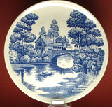 Lakeview Blue Transfer Ware Luncheon Plate Nasco 1960s Oriental Blue And White