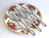 Oneida Community Chatelaine Stainless Steel Set of 6 Grapefruit Spoons 1960s Fruit Orange