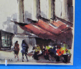 Postcard Paris Watercolor La Madeleine Signed Delane 1960s Impressionist