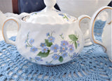 Sugar And Cream Blue Forget Me Nots 1960s Royal Adderleys English Bone China