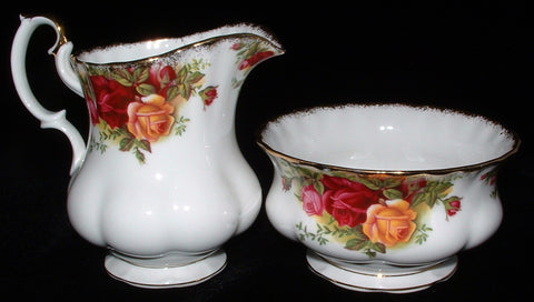 Royal Albert Old Country Roses Large Cream Sugar Basin 1960s England