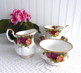 Cream And Sugar Royal Albert Old Country Roses 1962-1974 England