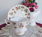 Cup And Saucer Royal Albert Winsome Floral Bands English Bone China 1966-1970s