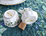 Irish Royal Tara Trellis Shamrock Miniature Cream And Sugar Creamer 1960s Individual