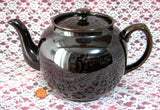 Sadler Brown Betty Teapot Vintage 1960s England 6 Cups Rockingham